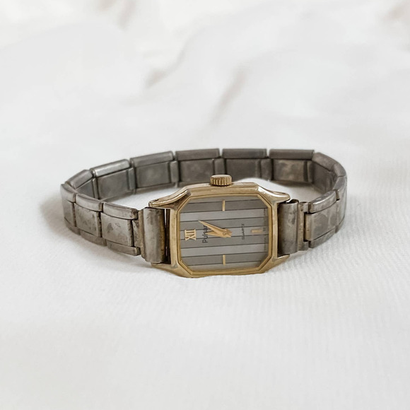 VTG Two Tone Pulsar Gray Striped Watch